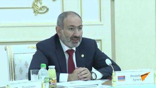 Речь премьер-министра Армении Никола Пашиняна на заседании Совета СНГ - Sputnik Արմենիա