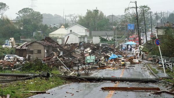 Последствия тайфуна Хагибис в Итихаре, к востоку от Токио (12 октября 2019). Япония - Sputnik Արմենիա
