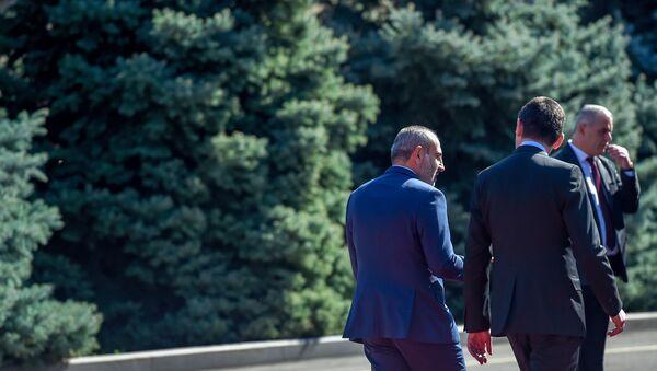 Официальный визит премьер-министра Грузии Георгия Гахария в Армению (15 октября 2019). Еревaн - Sputnik Արմենիա