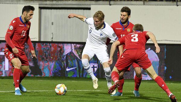 Футбольный матч отборочной группы J Euro 2020 между сборными Финляндия и Армения (15 октября 2019). Турку, Финляндия - Sputnik Արմենիա