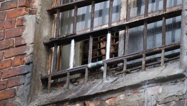Заключенный смотрит в окно. Архивное фото - Sputnik Армения