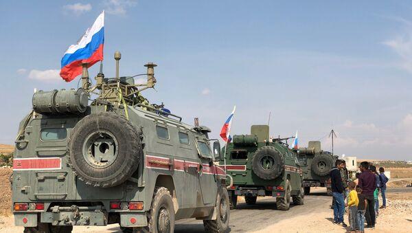 Военная полиция РФ на северо-востоке провинции Алеппо в Сирии - Sputnik Армения