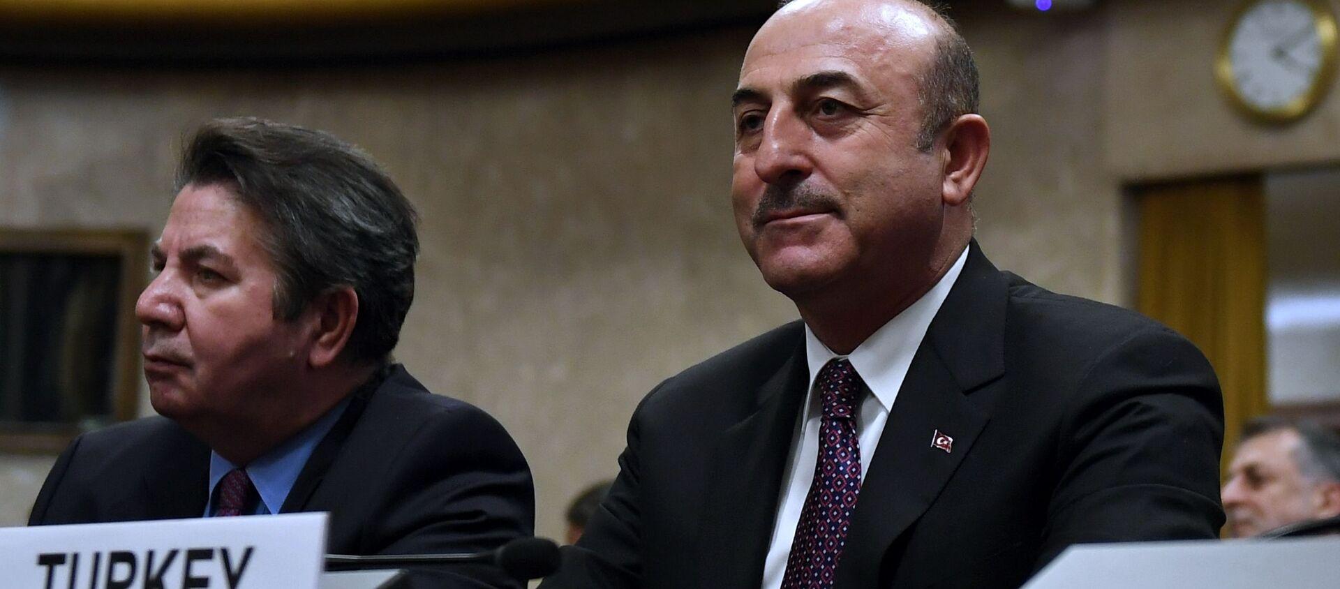 Министр иностранных дел Турции Мевлют Чавушоглу  - Sputnik Արմենիա, 1920, 22.08.2021