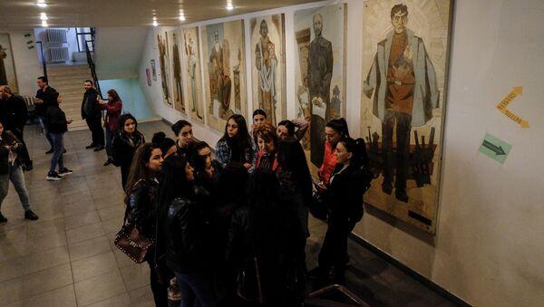 Забастовка в ЕГУ (6 ноября 2019). Ереван - Sputnik Արմենիա