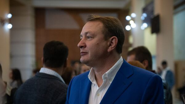 Монтажер фильма Я подарю тебе победу Светолик Зайц на премьере фильма (7 ноября 2019). Еревaн - Sputnik Армения