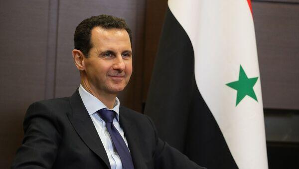 Президент Сирийской арабской республики Башар Асад во время встречи с президентом России (17 мая 2018). Сочи - Sputnik Արմենիա