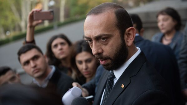 Председатель Национального собрания Армении Арарат Мирзоян ответил на вопросы журналистов (14 ноября 2019). Еревaн - Sputnik Армения