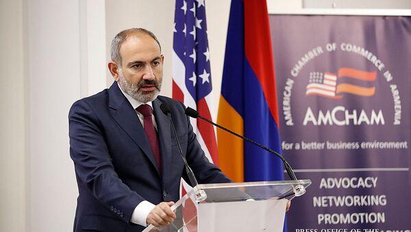 Премьер-министр Никол Пашинян посетил итоговую встречу Американской торговой палаты в Армении (14 ноября 2019). Еревaн - Sputnik Армения