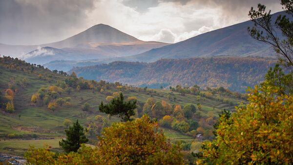 Осенний пейзаж в Лорийской области - Sputnik Армения