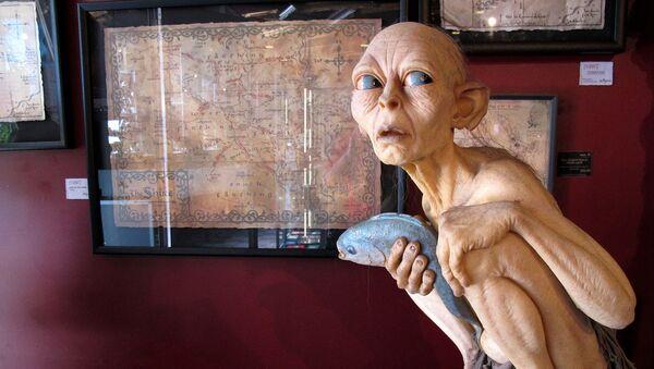 Мини-музей в пещере Вета в Веллингтоне по костюмам, реквизита и памятным вещам фильмов Властелин колец и Хоббит - Sputnik Արմենիա