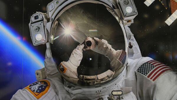 Скафандр астронавта NASA на выставке в рамках Международный конгресс астронавтики (22 октября 2019). Вашингтон - Sputnik Армения