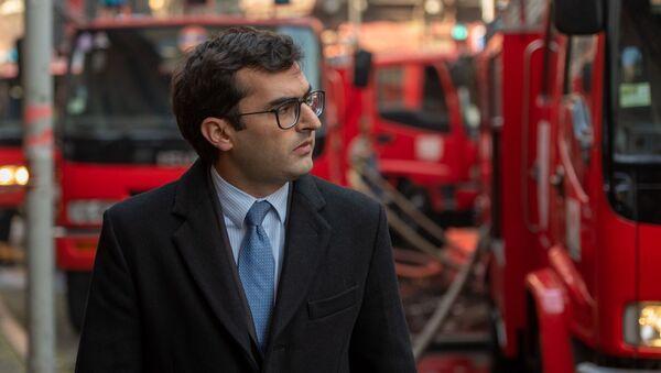 Пожар на перекрестке улиц Абовяна и Пушкина (21 ноября 2019). Еревaн - Sputnik Армения
