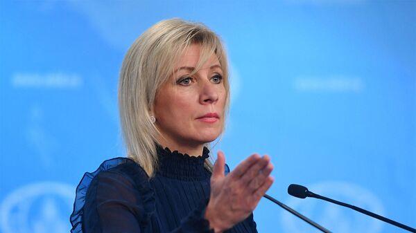 Официальный представитель МИД России Мария Захарова во время брифинга (28 ноября 2019) Москвa - Sputnik Армения