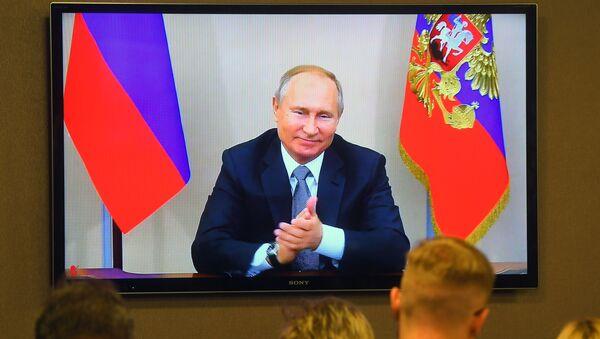 Президент РФ В. Путин принял участие в церемонии начала поставок российского газа в КНР по восточному маршруту - Sputnik Արմենիա