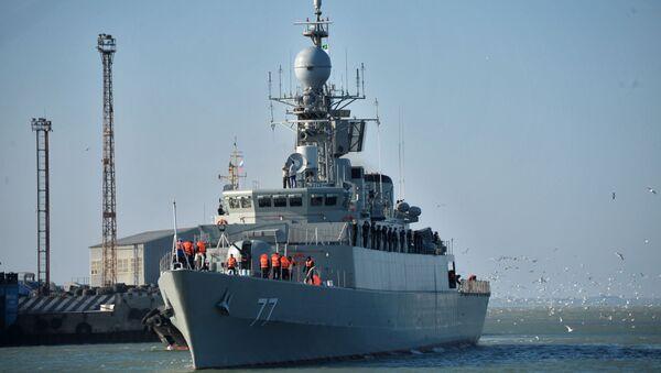 Прибытие отряда кораблей Военно-морских сил Ирана в порт Махачкалы - Sputnik Армения