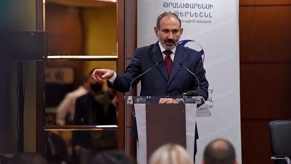 Выступление премьер-министра Никола Пашиняна на антикоррупционном форуме (9 декабря 2019). Еревaн - Sputnik Армения