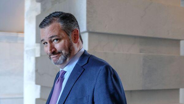 Сенатор Тед Круз после посещения мемориальной службы в честь Элайджи Каммингса (24 октября 2019). Капитолий - Sputnik Армения