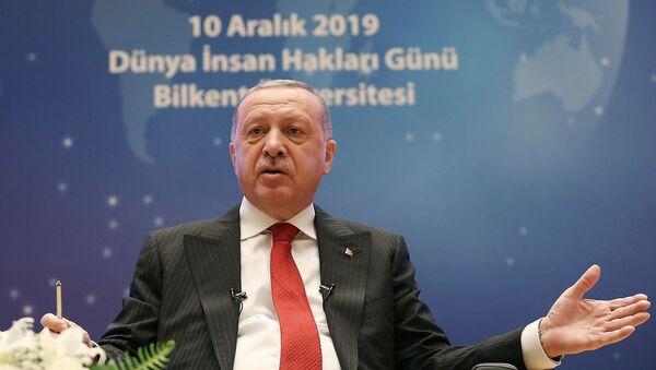 Выступление президента Турции Реджепа Тайипа Эрдогана на мероприятии Всемирного Дня прав человека (10 декабря 2019). Анкара - Sputnik Армения