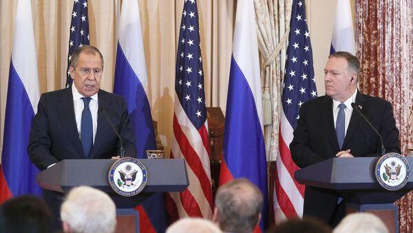 Встреча главы МИД РФ С. Лаврова и госсекретаря США М. Помпео  - Sputnik Արմենիա