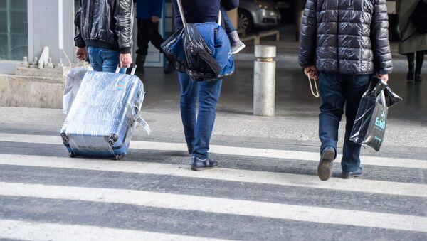 Пассажир с багажом в аэропорту Звартноц - Sputnik Армения