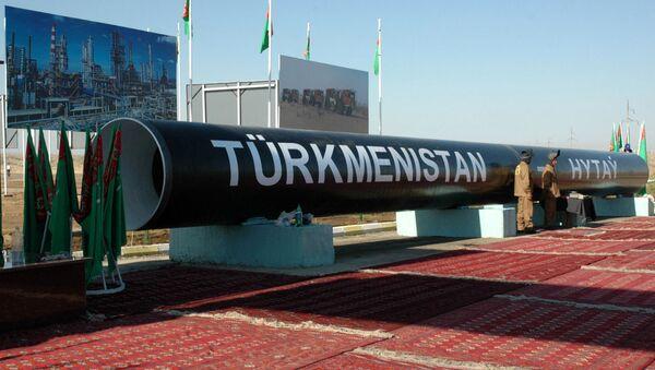 Торжественное открытие строительства газопровода из Туркменистана в Китай (30 августа 2007). Туркменабат - Sputnik Արմենիա
