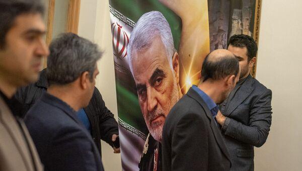 В Посольстве Ирана в Армении открыта книга соболезнований в связи с убийством иранского генерала Касема Хосейни (8 января 2020). Еревaн - Sputnik Արմենիա
