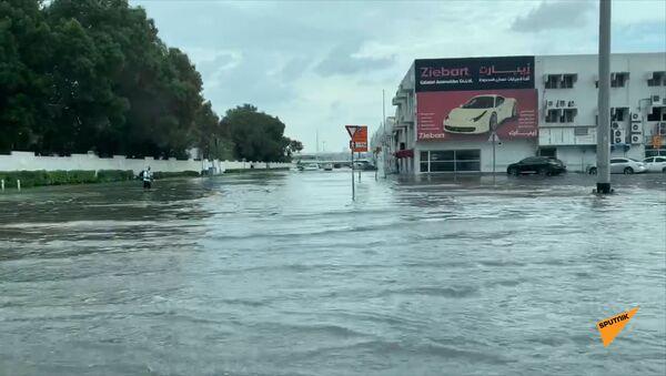«Դուբայ մոլն» էլ է փակվել. քաղաքում անձրևից առաջացած գետեր են հոսում - Sputnik Արմենիա