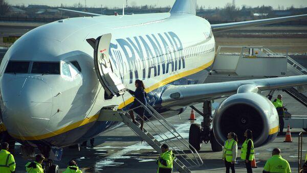 Встреча первого рейса Милан-Ереван-Милан авиакомпании Ryanair в аэропорту Звартноц (14 января 2020). Еревaн - Sputnik Արմենիա