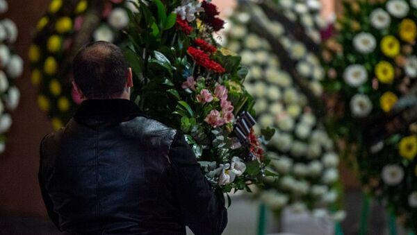 Гражданская панихида Георгия Кутояна (19 января 2020). Еревaн - Sputnik Армения