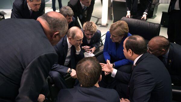 Поездка президента РФ В. Путина в Берлин для участия в Международной конференции по Ливии - Sputnik Армения