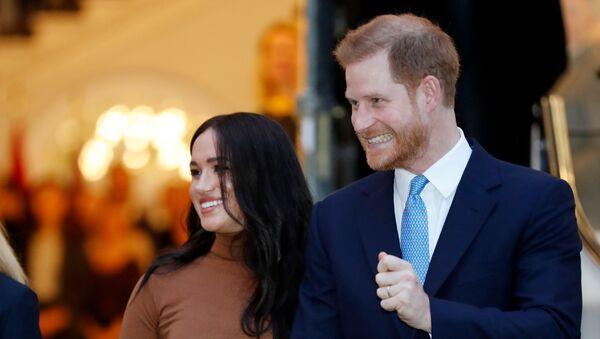 Британский принц Гарри и Меган, герцог и герцогиня Сассексские - Sputnik Армения