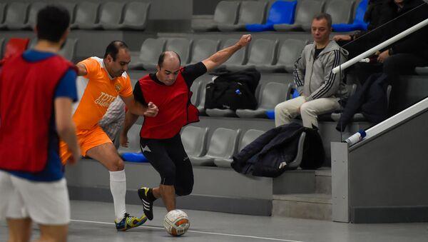 Товарищеский матч по футболу между сборными командами журналистов и парламентариев (25 января 2020). Еревaн - Sputnik Արմենիա