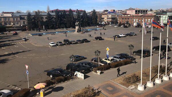 Вид на площадь Вардананц в городе Гюмри - Sputnik Արմենիա
