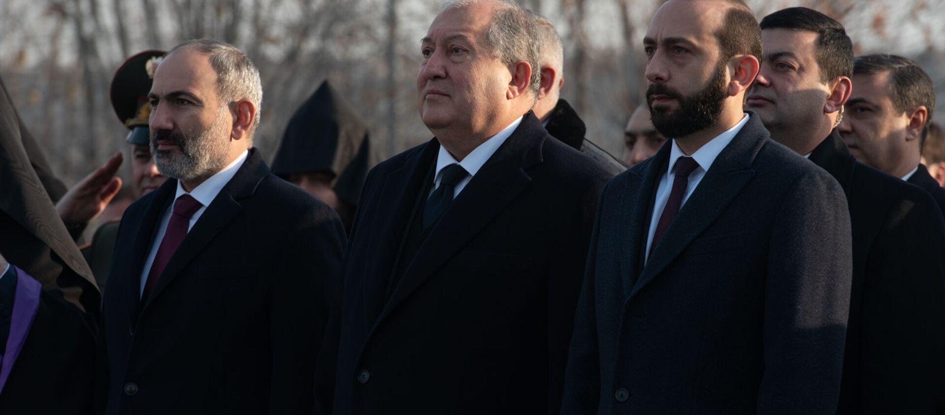 День Армии в Мемориальном комплексе Ераблур (28 января 2020). Еревaн - Sputnik Армения, 1920, 19.01.2021