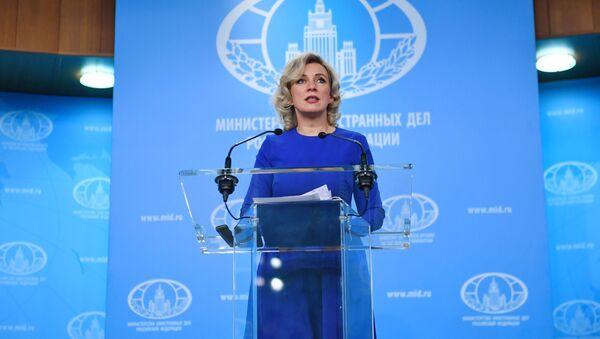 Официальный представитель Министерства иностранных дел России Мария Захарова во время еженедельного брифинга (30 января 2020). Москвa - Sputnik Армения