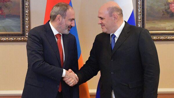 Михаил Мишустин и Никол Пашинян - Sputnik Արմենիա