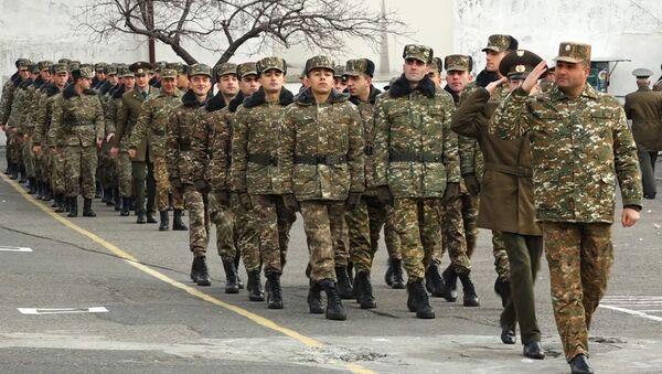 Демобилизация в одной из воинских частей Еревана - Sputnik Արմենիա