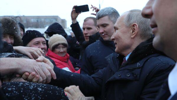 Рабочая поездка президента РФ В. Путина в Череповец - Sputnik Արմենիա