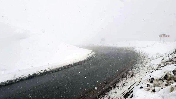Снег на межгородской трассе - Sputnik Армения
