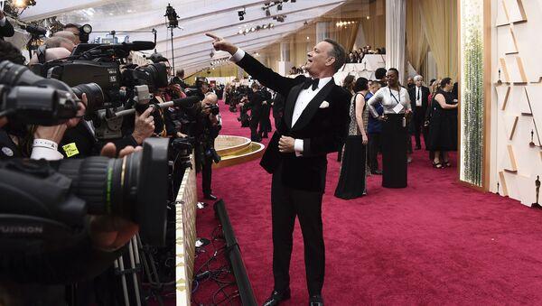 Актер Том Хэнкс на красной дорожке церемонии вручения премии Оскар 2020 (9 февраля 2020). Лос-Анджелес - Sputnik Արմենիա