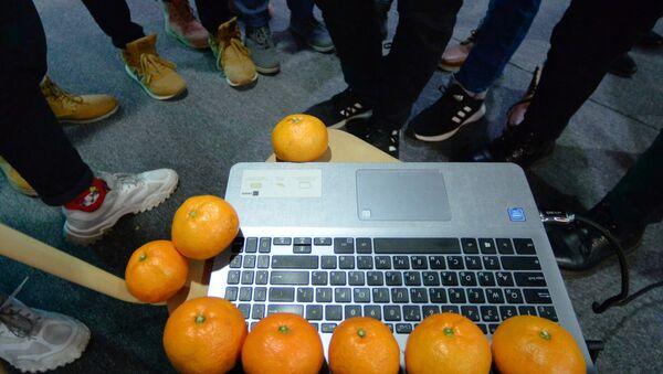 Мандарины у компьютера - Sputnik Армения