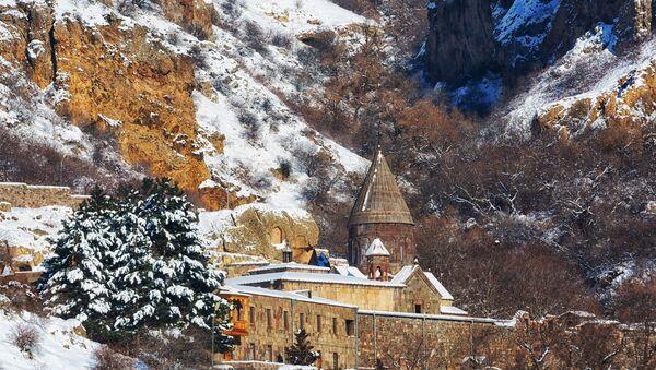 Как выглядят главные армянские достопримечательности зимой?  - Sputnik Армения