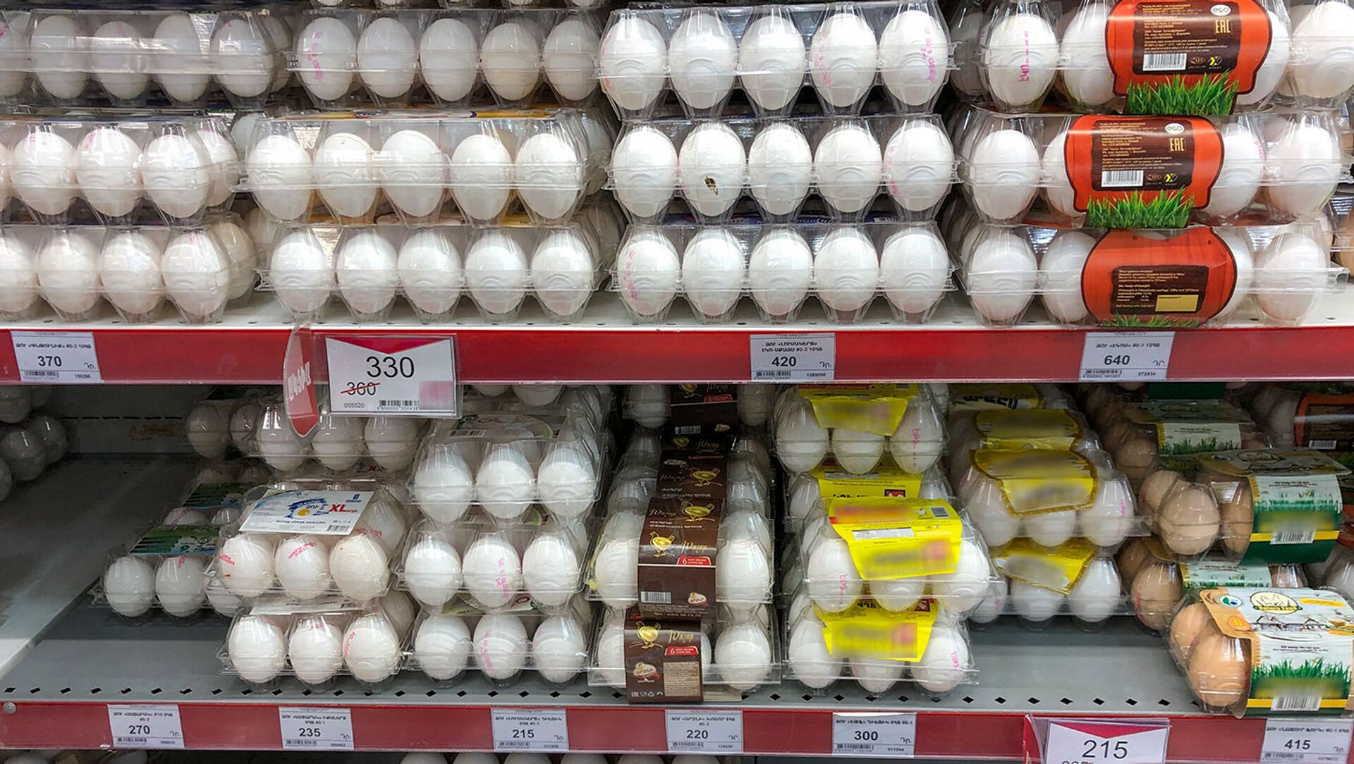 Яйца на прилавках супермаркета - Sputnik Արմենիա, 1920, 09.08.2021