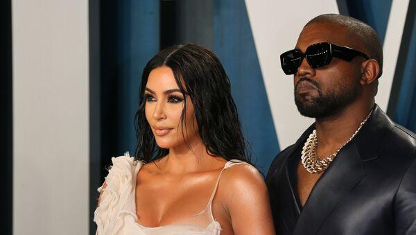 Ким Кардашьян и Канье Уэст на церемонии вручения премии Оскар  (9 февраля 2020).  Лос-Анджелес - Sputnik Армения