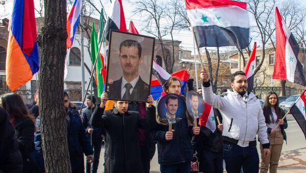 Шествие благодарности Сирии за признание Геноцида армян (16 февраля 2020). Еревaн - Sputnik Армения
