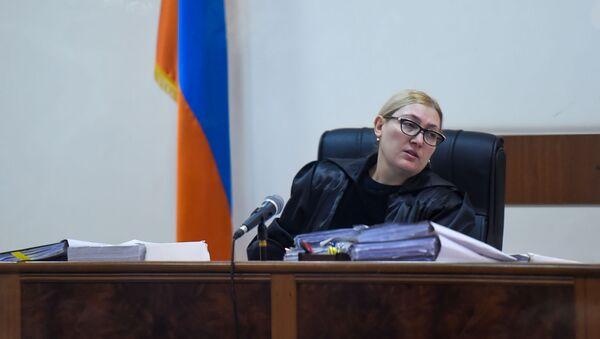 Судья Анна Данибекян на судебном заседании по делу 1 марта (25 февраля 2020). Еревaн - Sputnik Армения