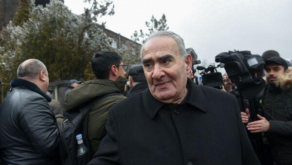 Галуст Саакян перед зданием суда, где проходит заседание по дизельному делу (25 февраля 2020). Еревaн - Sputnik Արմենիա