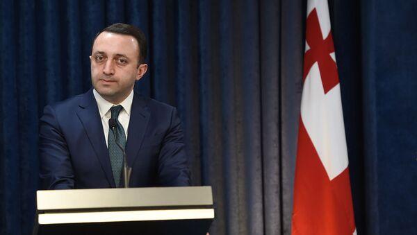 Министр обороны Грузии Давид Ираклий Гарибашвили на пресс-конференции (27 февраля 2020). Еревaн - Sputnik Արմենիա