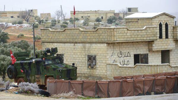 Турецкий блокпост на трассе Дамаск-Алеппо в Сирии - Sputnik Армения