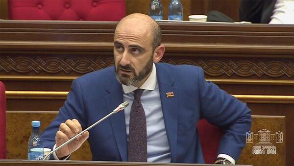 Депутат Нарек Зейналян на очередном заседании парламента Армении (11 февраля 2020). Еревaн - Sputnik Армения